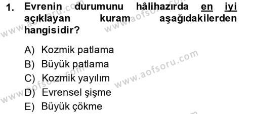 Bilim Tarihi Dersi 2014 - 2015 Yılı Dönem Sonu Sınavı 1. Soru