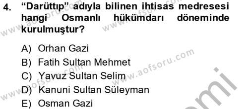 Bilim Tarihi Dersi 2014 - 2015 Yılı Dönem Sonu Sınavı 4. Soru
