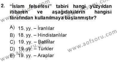 Tarih Bölümü 8. Yarıyıl Türk Düşünce Tarihi Dersi 2015 Yılı Bahar Dönemi Dönem Sonu Sınavı 2. Soru