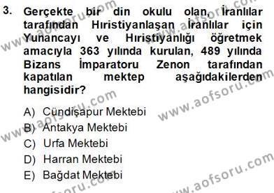 Tarih Bölümü 8. Yarıyıl Türk Düşünce Tarihi Dersi 2015 Yılı Bahar Dönemi Dönem Sonu Sınavı 3. Soru