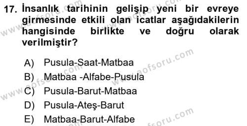 Türk Basın Tarihi Dersi Ara Sınavı Deneme Sınav Soruları 17. Soru