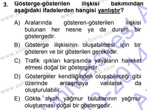 Türk Dili ve Edebiyatı Bölümü 1. Yarıyıl Türkçe Ses Bilgisi Dersi 2014 Yılı Güz Dönemi Ara Sınavı 3. Soru
