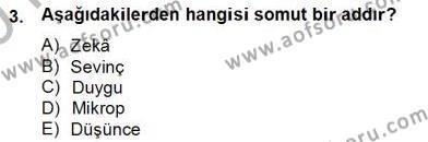 Türkçe Biçim Bilgisi Dersi 2012 - 2013 Yılı (Final) Dönem Sonu Sınav Soruları 3. Soru