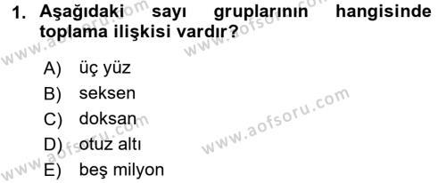 Türkçe Biçim Bilgisi Dersi 2017 - 2018 Yılı (Vize) Ara Sınav Soruları 1. Soru