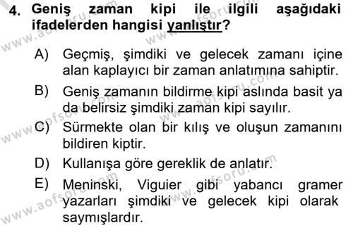 Osmanlı Türkçesine Giriş 2 Dersi 2016 - 2017 Yılı (Final) Dönem Sonu Sınav Soruları 4. Soru