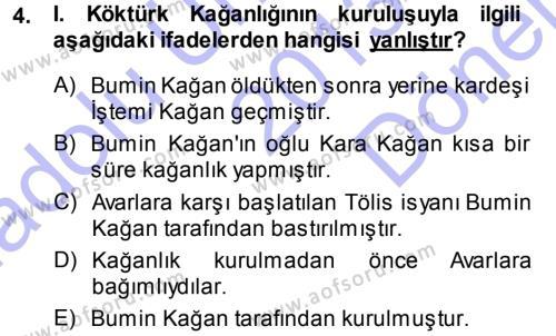 Orhon Türkçesi Dersi 2013 - 2014 Yılı (Final) Dönem Sonu Sınav Soruları 4. Soru