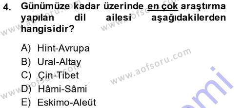 Orhon Türkçesi Dersi 2014 - 2015 Yılı (Vize) Ara Sınav Soruları 4. Soru