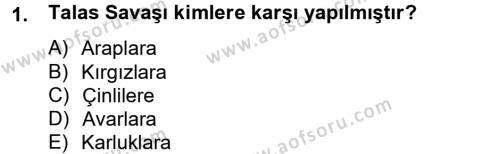 Uygur Türkçesi Dersi 2012 - 2013 Yılı (Vize) Ara Sınav Soruları 1. Soru
