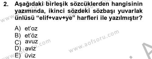 Türk Dili ve Edebiyatı Bölümü 4. Yarıyıl Uygur Türkçesi Dersi 2013 Yılı Bahar Dönemi Dönem Sonu Sınavı 2. Soru