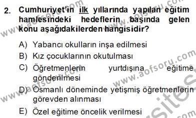 Türkçe Cümle Bilgisi 2 Dersi 2013 - 2014 Yılı (Final) Dönem Sonu Sınav Soruları 2. Soru