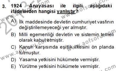 Türkçe Cümle Bilgisi 2 Dersi 2013 - 2014 Yılı (Final) Dönem Sonu Sınav Soruları 3. Soru