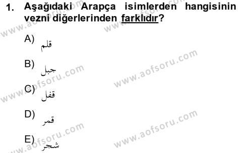 Osmanlı Türkçesi Grameri 1 Dersi 2013 - 2014 Yılı (Final) Dönem Sonu Sınav Soruları 1. Soru