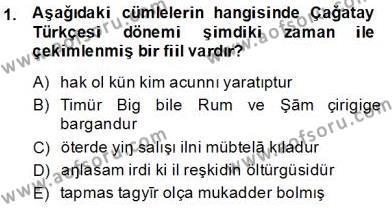XIV-XV. Yüzyıllar Türk Dili Dersi 2013 - 2014 Yılı (Final) Dönem Sonu Sınav Soruları 1. Soru