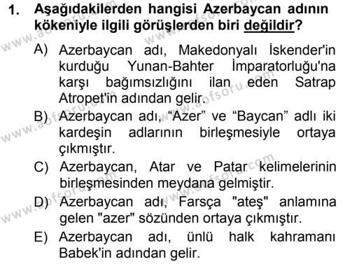 Çağdaş Türk Yazı Dilleri 1 Dersi 2012 - 2013 Yılı (Final) Dönem Sonu Sınav Soruları 1. Soru