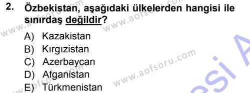 Çağdaş Türk Yazı Dilleri 1 Dersi 2012 - 2013 Yılı (Final) Dönem Sonu Sınav Soruları 2. Soru
