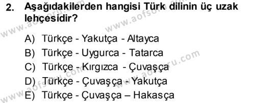 Çağdaş Türk Yazı Dilleri 1 Dersi 2013 - 2014 Yılı (Vize) Ara Sınav Soruları 2. Soru