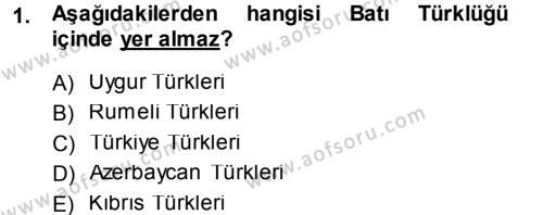 Çağdaş Türk Yazı Dilleri 1 Dersi 2013 - 2014 Yılı (Final) Dönem Sonu Sınav Soruları 1. Soru