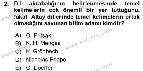 Çağdaş Türk Yazı Dilleri 1 Dersi 2015 - 2016 Yılı (Vize) Ara Sınav Soruları 2. Soru