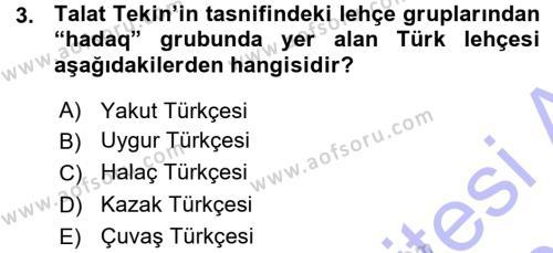 Çağdaş Türk Yazı Dilleri 1 Dersi 2015 - 2016 Yılı (Vize) Ara Sınav Soruları 3. Soru