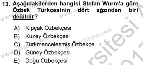 Çağdaş Türk Yazı Dilleri 1 Dersi 3 Ders Sınavı Deneme Sınav Soruları 13. Soru