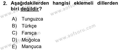 Çağdaş Türk Yazı Dilleri 1 Dersi 2016 - 2017 Yılı 3 Ders Sınav Soruları 2. Soru