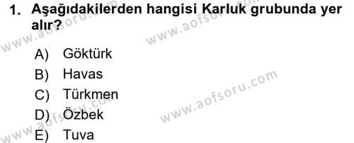 Çağdaş Türk Yazı Dilleri 1 Dersi 2017 - 2018 Yılı (Vize) Ara Sınav Soruları 1. Soru