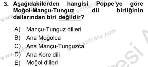 Çağdaş Türk Yazı Dilleri 1 Dersi 2017 - 2018 Yılı (Vize) Ara Sınav Soruları 3. Soru