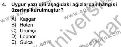 Türk Dili ve Edebiyatı Bölümü 6. Yarıyıl Çağdaş Türk Yazı Dilleri II Dersi 2013 Yılı Bahar Dönemi Ara Sınavı 4. Soru