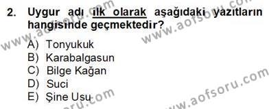 Türk Dili ve Edebiyatı Bölümü 6. Yarıyıl Çağdaş Türk Yazı Dilleri II Dersi 2013 Yılı Bahar Dönemi Dönem Sonu Sınavı 2. Soru