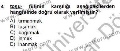 Türk Dili ve Edebiyatı Bölümü 6. Yarıyıl Çağdaş Türk Yazı Dilleri II Dersi 2013 Yılı Bahar Dönemi Dönem Sonu Sınavı 4. Soru