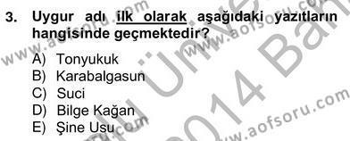 Türk Dili ve Edebiyatı Bölümü 6. Yarıyıl Çağdaş Türk Yazı Dilleri II Dersi 2014 Yılı Bahar Dönemi Ara Sınavı 3. Soru