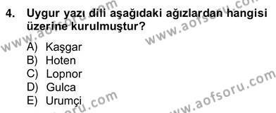 Türk Dili ve Edebiyatı Bölümü 6. Yarıyıl Çağdaş Türk Yazı Dilleri II Dersi 2014 Yılı Bahar Dönemi Ara Sınavı 4. Soru