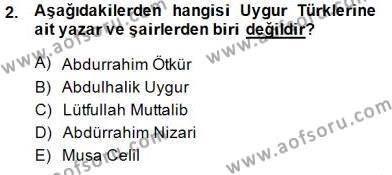 Çağdaş Türk Yazı Dilleri 2 Dersi 2014 - 2015 Yılı (Vize) Ara Sınav Soruları 2. Soru