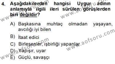 Çağdaş Türk Yazı Dilleri 2 Dersi 2014 - 2015 Yılı (Vize) Ara Sınav Soruları 4. Soru