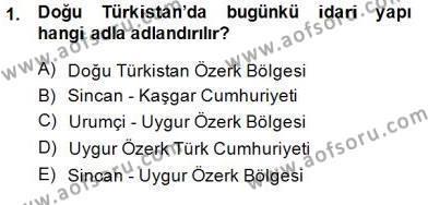 Çağdaş Türk Yazı Dilleri 2 Dersi 2014 - 2015 Yılı Dönem Sonu Sınavı 1. Soru