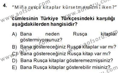 Çağdaş Türk Yazı Dilleri 2 Dersi 2014 - 2015 Yılı Dönem Sonu Sınavı 4. Soru