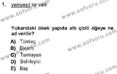 Genel Dilbilim 1 Dersi 2012 - 2013 Yılı (Final) Dönem Sonu Sınav Soruları 1. Soru