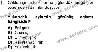 Türk Dili ve Edebiyatı Bölümü 5. Yarıyıl Genel Dilbilim I Dersi 2014 Yılı Güz Dönemi Dönem Sonu Sınavı 1. Soru