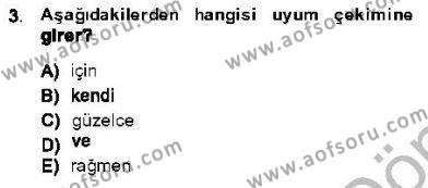 Türk Dili ve Edebiyatı Bölümü 5. Yarıyıl Genel Dilbilim I Dersi 2014 Yılı Güz Dönemi Dönem Sonu Sınavı 3. Soru