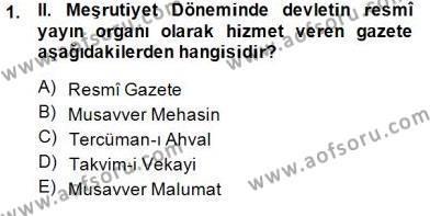 II. Meşrutiyet Dönemi Türk Edebiyatı Dersi 2014 - 2015 Yılı (Final) Dönem Sonu Sınav Soruları 1. Soru