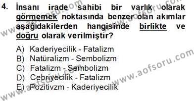 II. Meşrutiyet Dönemi Türk Edebiyatı Dersi 2014 - 2015 Yılı (Final) Dönem Sonu Sınav Soruları 4. Soru