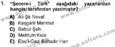 XVI-XIX. Yüzyıllar Türk Dili Dersi 2012 - 2013 Yılı (Vize) Ara Sınav Soruları 1. Soru