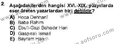 XVI-XIX. Yüzyıllar Türk Dili Dersi 2012 - 2013 Yılı (Final) Dönem Sonu Sınav Soruları 2. Soru