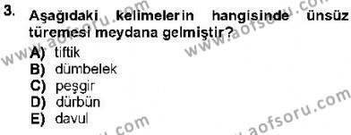 XVI-XIX. Yüzyıllar Türk Dili Dersi 2012 - 2013 Yılı (Final) Dönem Sonu Sınav Soruları 3. Soru