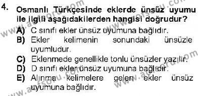 XVI-XIX. Yüzyıllar Türk Dili Dersi 2012 - 2013 Yılı (Final) Dönem Sonu Sınav Soruları 4. Soru