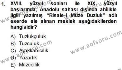 XVI-XIX. Yüzyıllar Türk Dili Dersi 2014 - 2015 Yılı Dönem Sonu Sınavı 1. Soru