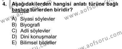 Eleştiri Kuramları Dersi 2012 - 2013 Yılı (Vize) Ara Sınav Soruları 4. Soru