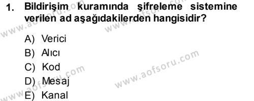 Eleştiri Tarihi Dersi 2013 - 2014 Yılı Dönem Sonu Sınavı 1. Soru