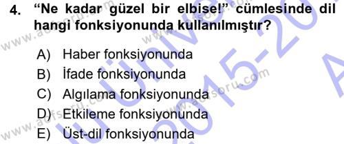 Türk Dili ve Edebiyatı Bölümü 7. Yarıyıl Eleştiri Tarihi Dersi 2016 Yılı Güz Dönemi Ara Sınavı 4. Soru