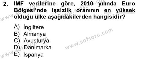 Dış Ticarete Giriş Dersi 2012 - 2013 Yılı Ara Sınavı 2. Soru